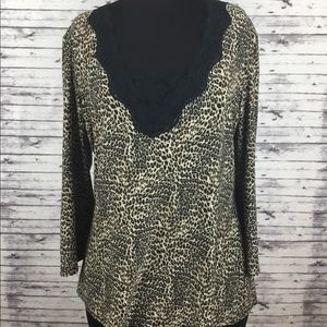In Bloom by Jonquil Cheetah Top. Size M